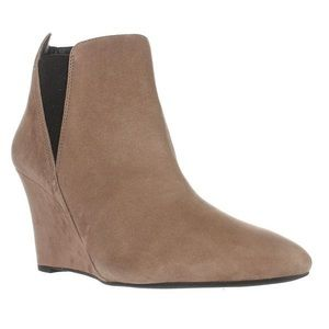 Wedge Tan/Taupe Ankle Booties